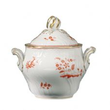 Richard Ginori Vecchio Galli Rossi Coffee Sugar Bowl with Cover 300cc